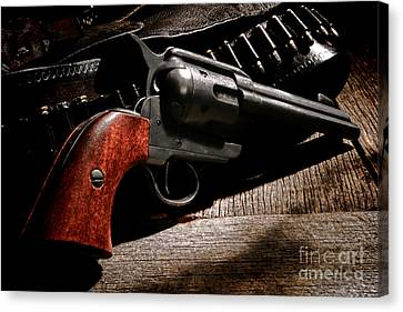 The Gun That Won The West Canvas Print by Olivier Le Queinec