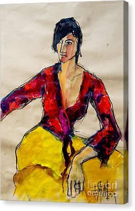 The Gypsy - Pia #2 - Figure Series Canvas Print by Mona Edulesco