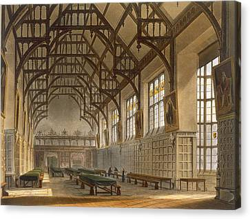 The Hall Of Trinity College, Cambridge Canvas Print by Augustus Charles Pugin
