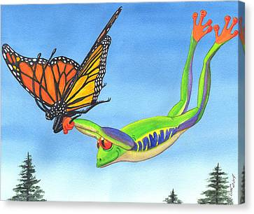 The Hang Glider Canvas Print by Catherine G McElroy