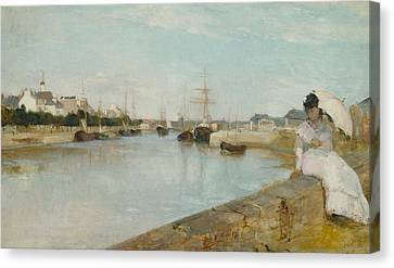 The Harbour At Lorient Canvas Print by Berthe Morisot