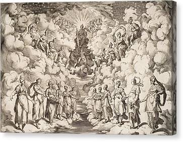 The Harmony Of The Spheres Canvas Print by Agostino Carracci