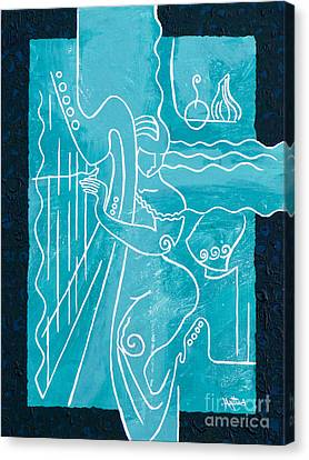 The Harp Player Canvas Print by Elisabeta Hermann