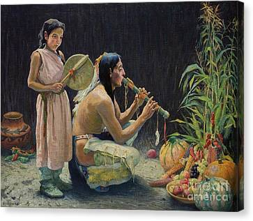 The Harvest Song Canvas Print by Celestial Images