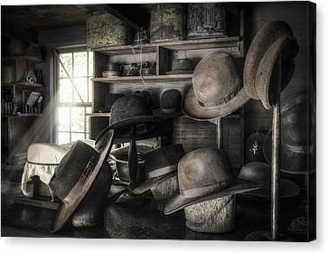 The Hatters Shop - 19th Century Hatter Canvas Print by Gary Heller