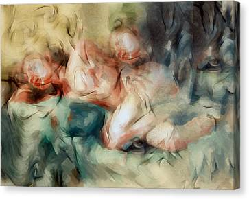 The Haunted Nude Canvas Print by Georgiana Romanovna