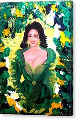 The Hawaiian Queen Canvas Print by Carmen Doreal