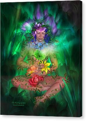 The Healing Garden Canvas Print by Carol Cavalaris