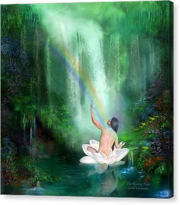 The Healing Place Canvas Print by Carol Cavalaris