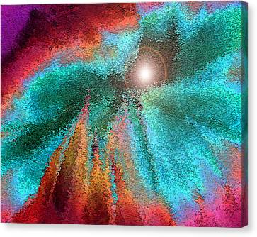 The Heart Of Things Canvas Print by Carl Bandy