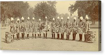 The Heralds And Trumpeters Canvas Print by British Library