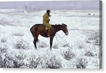 The Herd Boy Canvas Print by Fredrick Remington