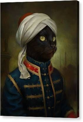 The Hermitage Court Moor Cat Canvas Print by Eldar Zakirov