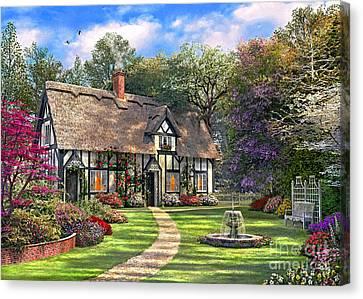 The Hideaway Cottage Canvas Print by Dominic Davison