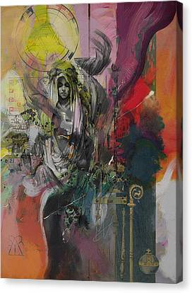 The High Priestess Canvas Print by Corporate Art Task Force
