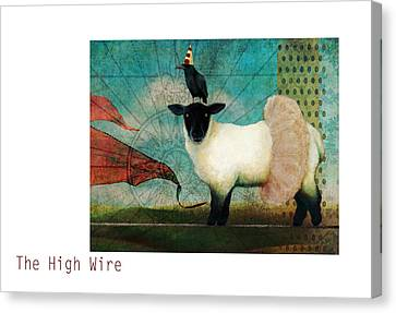 The High Wire Canvas Print by Katherine DuBose Fuerst