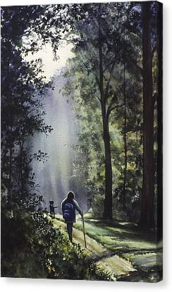 The Hiker Canvas Print by Rita Cooper