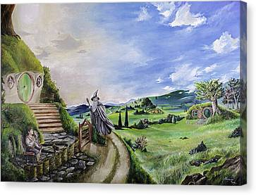 The Hobbit - Unexpected Visit Canvas Print by Alessandro Serra