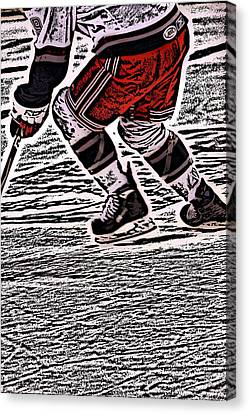 The Hockey Player Canvas Print by Karol Livote