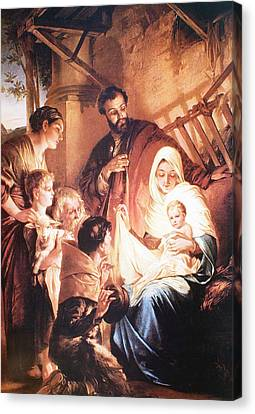 The Holy Family Canvas Print by Unknown