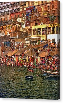 The Holy Ganges Canvas Print by Steve Harrington