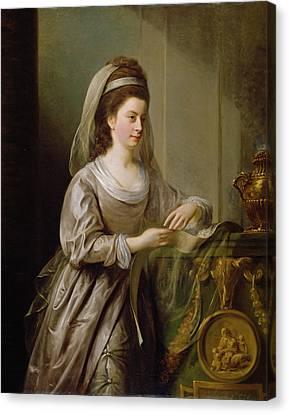 The Hon. Mrs Nathaniel Curzon, 1778 Canvas Print by Nathaniel I Hone