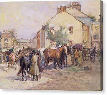The Horse Fair  Canvas Print by John Atkinson