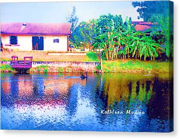 The House Across The Way Canvas Print by KLM Kathel