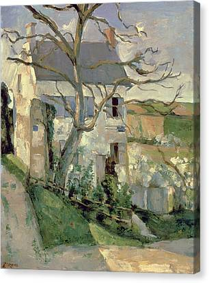 The House And The Tree, C.1873-74 Canvas Print by Paul Cezanne