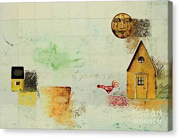 The House Next Door - C04a Canvas Print by Variance Collections