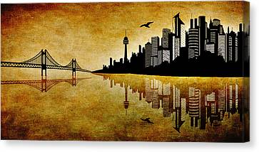 The Hubris Of Mankind 1 Canvas Print by Angelina Vick