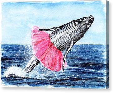 The Humpback Ballerina Canvas Print by Carlo Ghirardelli