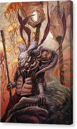 The Hunter And His Henchman  Canvas Print by Ethan Harris