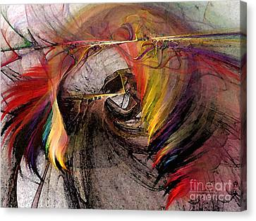 The Huntress-abstract Art Canvas Print by Karin Kuhlmann