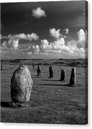 The Hurlers Stone Circle Canvas Print by Darren Galpin