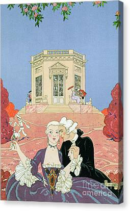The Indolents Canvas Print by Georges Barbier