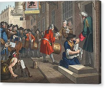 The Industrious Prentice Canvas Print by William Hogarth
