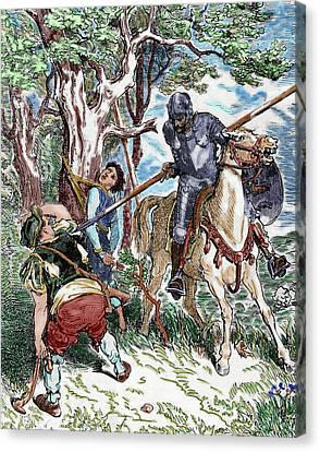 The Ingenious Hidalgo Don Quixote Of La Canvas Print by Prisma Archivo