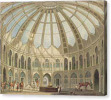 The Interior Of The Stables Canvas Print by John Nash