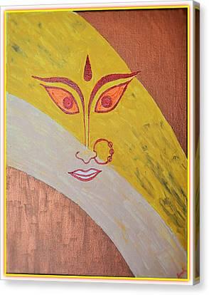 The Invincible Goddess Canvas Print by Sonali Gangane