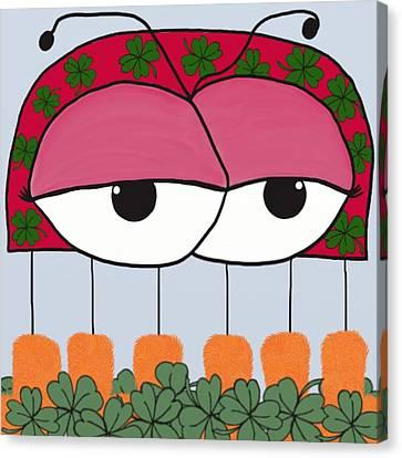 The Irish Ladybird Canvas Print by Michelle Brenmark