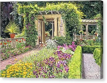 The Italian Gardens Hatley Park Canvas Print by David Lloyd Glover