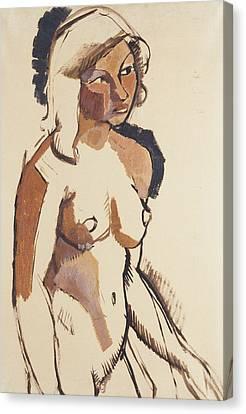 The Italian Girl Canvas Print by Roger de La Fresnaye