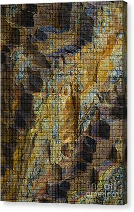 The Jagged Rock Of Vesuvius Canvas Print by Graham Foulkes