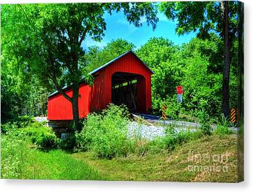 The James Covered Bridge Canvas Print by Mel Steinhauer