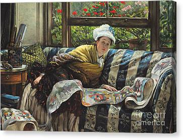 The Japanese Scroll Canvas Print by Tissot
