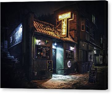 The Jazz Estate Nightclub Canvas Print by Scott Norris
