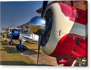 The Jennings Stearman Fly-in Canvas Print by Tim Stanley