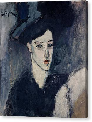 The Jewess Canvas Print by Amedeo Modigliani