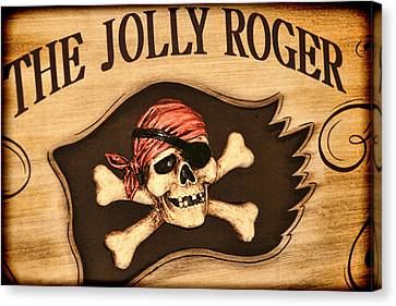 The Jolly Roger Canvas Print by Kathy Clark